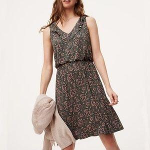 LOFT Floral Paisley Print Dress